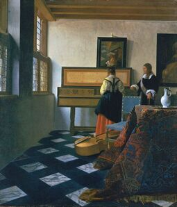 Johannes Vermeer, 'Lady at the Virginals with a Gentleman', 1662-1665
