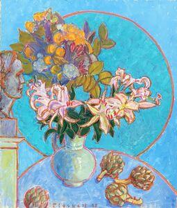 Joseph Plaskett, 'Artichoke, Lilies, Bouquet & Bust of Artist', 1997