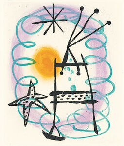 Joan Miró, 'Suite La Bague D'Aurore - plate 13', 1957
