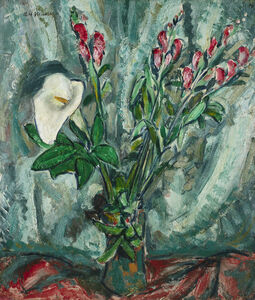 Alfred H. Maurer, 'Floral Still Life with Calla Lily', ca. 1920s