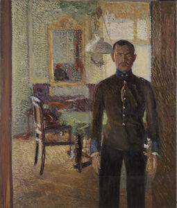 Richard Gerstl, 'Portrait of Lieutenant Alois Gerstl', About 1907