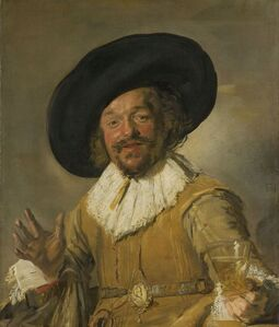 Frans Hals, 'A Militiaman Holding a Berkemeyer, Known as the 'Merry Drinker'', ca. 1628 -1630