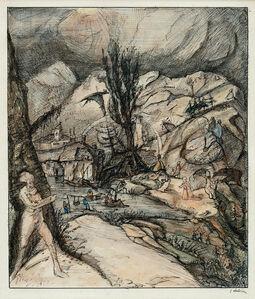 Alfred Kubin, 'Die Berg- und Talwelt (The Mountain- and Valley-World)', ca. 1910