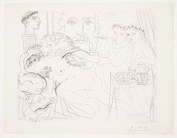 Pablo Picasso, 'Vollard - Autoportrait Sous Trois Formes', 1933