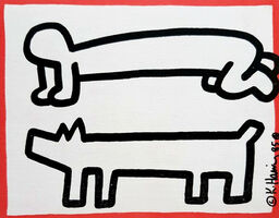 Keith Haring, 'Keith Haring DV8 announcement (Keith Haring San Francisco 1987) ', 1987