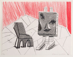 David Hockney, 'Celia with Chair, March 1986', 1986