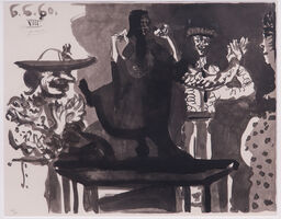 Pablo Picasso, 'Flamengo dancer on table and picador', 1960