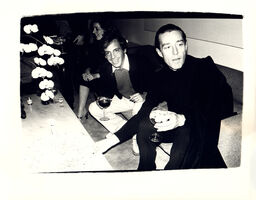 Andy Warhol, 'Andy Warhol, Photograph of Steve Rubell and Halston circa 1979', ca. 1979