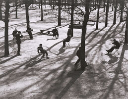 André Kertész, 'After School at the Tuileries, Paris', 1928 / 1960c