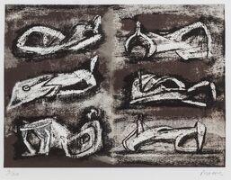 Henry Moore, 'Six Reclining Figures (Cramer 617)', 1981