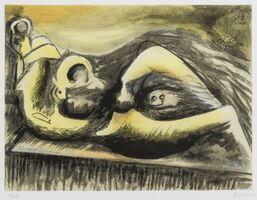 Henry Moore, 'Reclining Figure. Idea for Metal Sculpture (Cramer 653)', 1982
