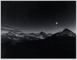 Ansel Adams, 'Sierra Nevada: Autumn Moon, The High Sierra From Glacier Point', 1948