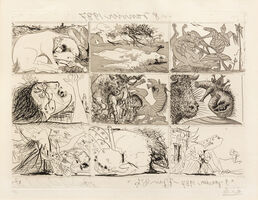 Pablo Picasso, 'Sueno y mentira de Franco (a group of 2)', 1937