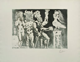 Pablo Picasso, 'Chez la Pythie-harpye, homme au masque de minotaure... (Suite Vollard)', 1934
