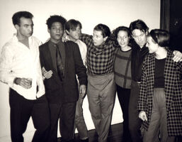 Andy Warhol, 'Andy Warhol, Photograph of Jean-Michel Basquiat, Bryan Ferry, Julian Schnabel, Jacqueline Beaurang, Paige Powell, and Others at a Party at Julian Schnabel's Apartment, 1985', 1985