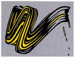Roy Lichtenstein, 'Brushstroke,', 1995