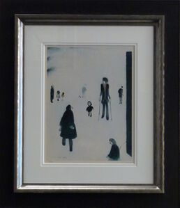 Laurence Stephen Lowry, 'Figures in the Park', 1976