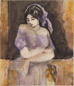 Constantin Guys, 'Young Spanish Girl'
