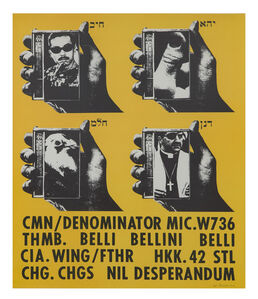 Wallace Berman, 'Untitled (CMN/Thumb Poster)', 1965