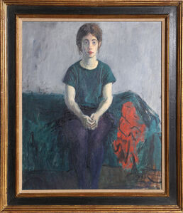 Raphael Soyer, 'Girl on Bed', ca. 1965