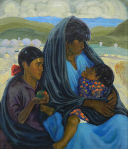 Joseph A. Fleck, 'Mother and Two Children', Unknown