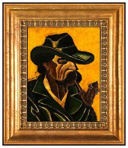 Hugó Scheiber, 'Hugo Scheiber RARE Original Oil Painting On Board Signed Portrait Framed Artwork', 20th Century