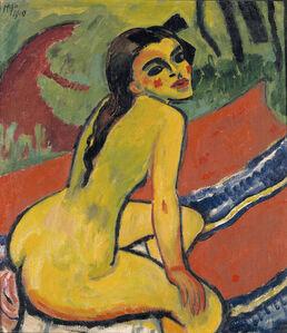 Max Pechstein, 'Seated Girl (Moritzburg)', 1910