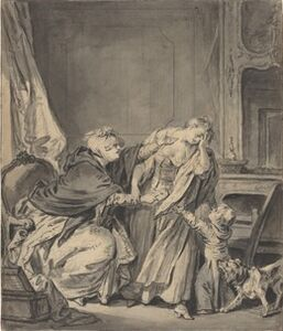 Jean-Baptiste Greuze, 'The Angry Mother'