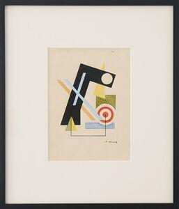 Lajos Kassák, 'Constructivist Composition', ca. 1921