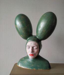 Iván Prieto, 'Rabbit in green', 2019