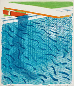 David Hockney, 'Pool Made with Paper and Blue Ink for Book, from Paper Pools', 1980