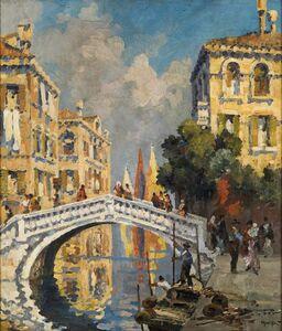Roberto Marcello Baldessari, 'Ponte a Venezia', 1913-1914