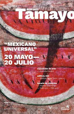 "Rufino Tamayo ""Mexicano Universal"", installation view"