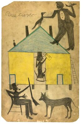 Between Worlds: The Art of Bill Traylor, installation view