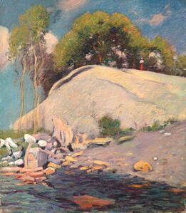 Theodore Wendel, 'Figure along a Rocky Shoreline, Gloucester', 19th -20th Century