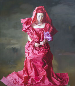 Zeng Chuanxing, 'Red Paper Bride', 2010