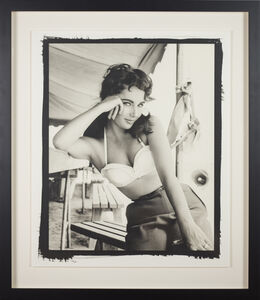 Frank Worth, 'Elisabeth Taylor with bustier No.3 on set of 'Giant'', 1955