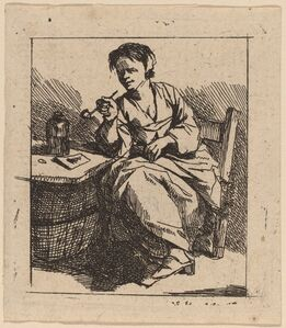 Cornelis Bega, 'A Woman Smoking'