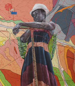 Jean David Nkot, '##@ a woman's survival##', 2020