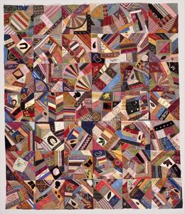 Unknown American, 'Quilt Top, Crazy pattern', ca. 1885