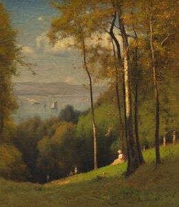 George Inness, 'On the Hudson (The Distant River)', ca. 1875–78