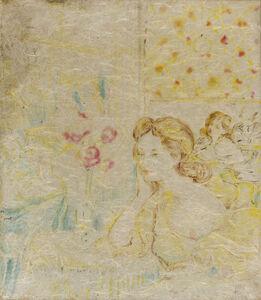 Aligi Sassu, 'Donne al caffè', 1958