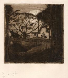 Armand Séguin, 'Le soir or La glaneuse', 1894
