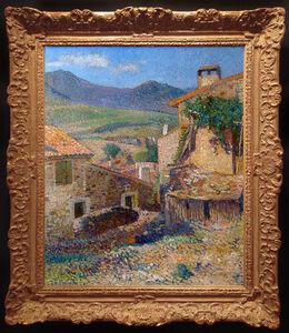Henri Martin, 'Rue et Paysage de Collioure ensoleille', ca. 1923