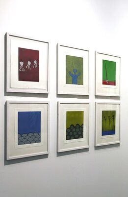 Bodo Korsig: A collection of monotypes, installation view