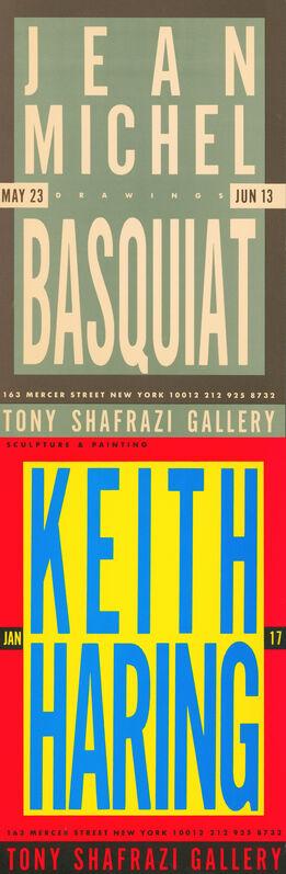 Jean-Michel Basquiat, 'Basquiat Keith Haring at Tony Shafrazi Gallery 1987 (vintage Basquiat Haring)', 1987, Ephemera or Merchandise, Offset printed, Lot 180