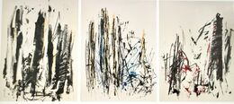 Joan Mitchell, Arbres (Yellow, Blue, Red) (triptych)