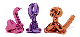 Jeff Koons, Animals - Balloon Rabbit (Violet), Balloon Monkey (Orange), Balloon Swan (Magenta