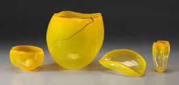 Dale Chihuly, SUN YELLOW BASKET SET