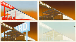Ed Ruscha, i) Standard Station; ii) Mocha Standard; iii) Cheese Mold Standard with Olive; iv) Double Standard